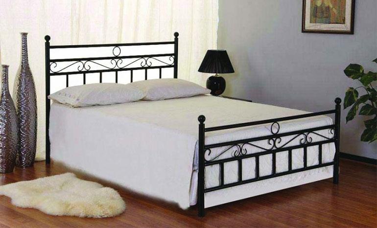 6×6 Modern design Black Metal bed