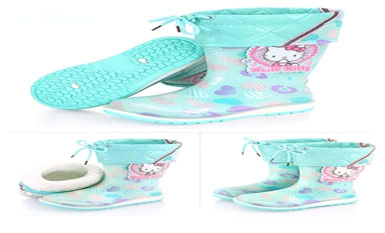 dec0bfbb6 Hello Kitty children's rain boots girls four seasons non-slip rubber shoes