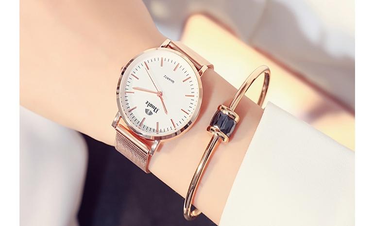Waterproof watch for ladies simple fashion trend