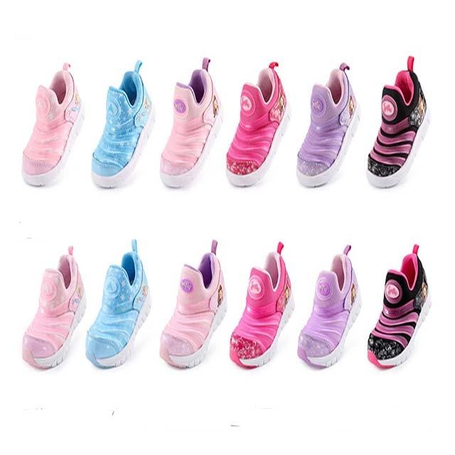 Disney children's winter new sports shoes girls caterpillar baby loves princess shoes