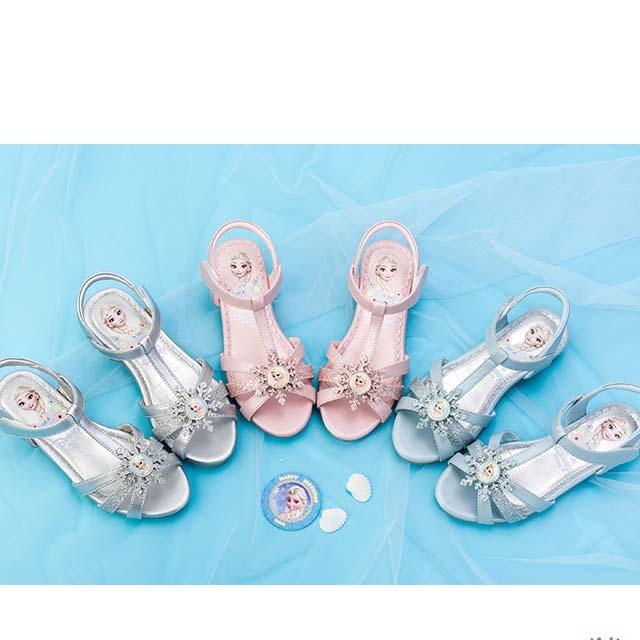 Disney children leather baby princess sandals 2019 new summer