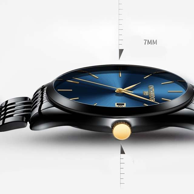Mechanical steel with quartz men's simple watch