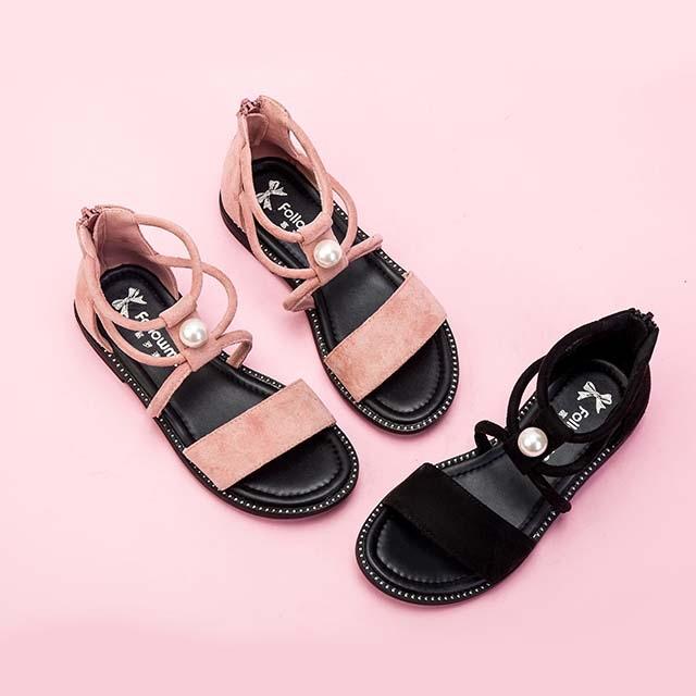 Fu Luo fans girls sandals summer 2019 new fashion big children