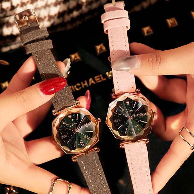 Waterproof watch belt quartz for female
