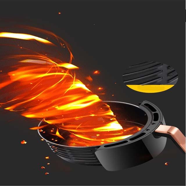 Household air fryer oil-free