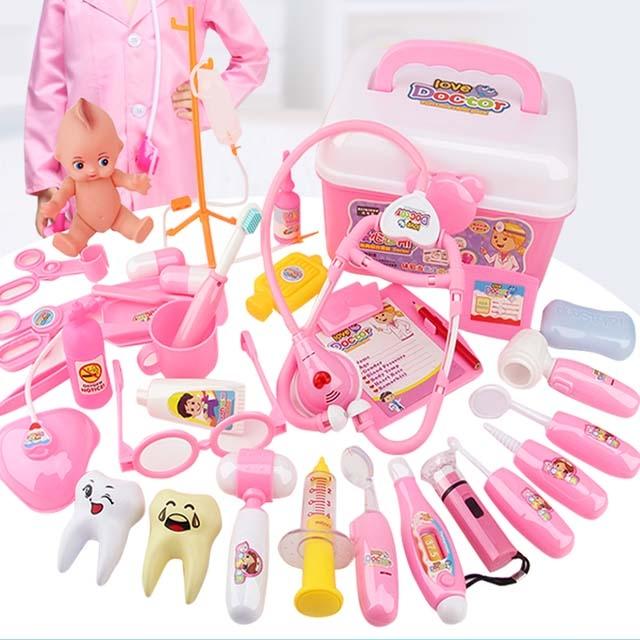 Doctor toy set little girl medical box