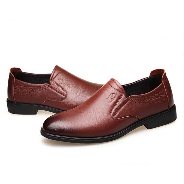 leather men's business dress shoes