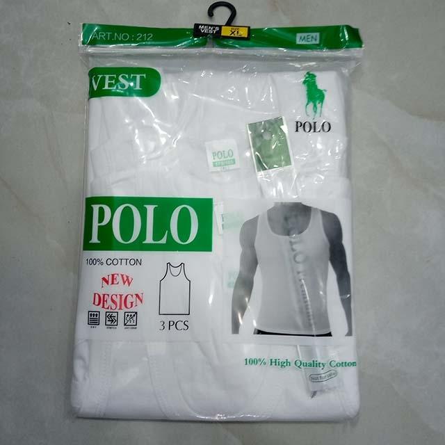 Sandaland white vest 3 pc