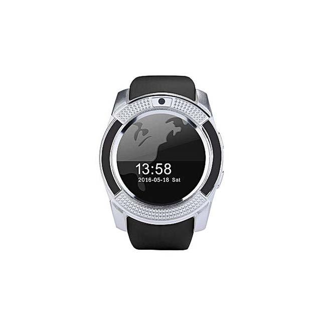 Silver V8 Smart Watch