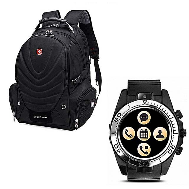 Pack of Sport Sw007 Smart Watch & SwissGear Laptop Bag Pack