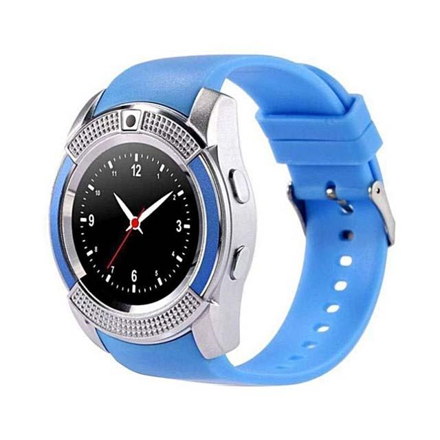 Classic V8 Smart Watch blue