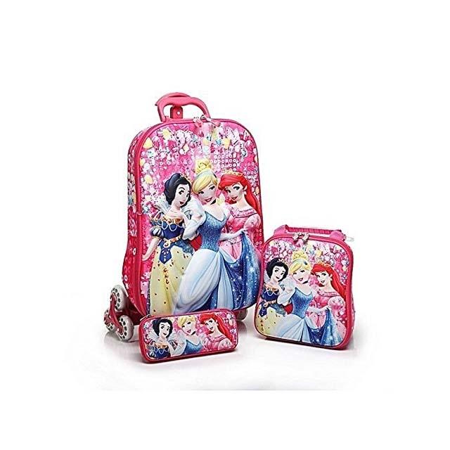 Princess trolley School Bag