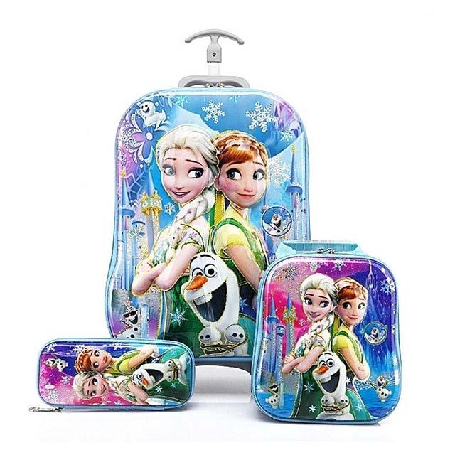 Frozen trolley School Bag