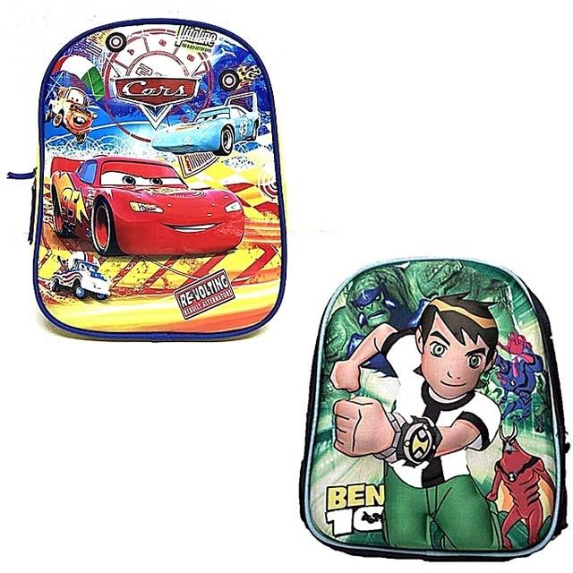 Cars And Ben 10 Characters Kindergarten School Bag