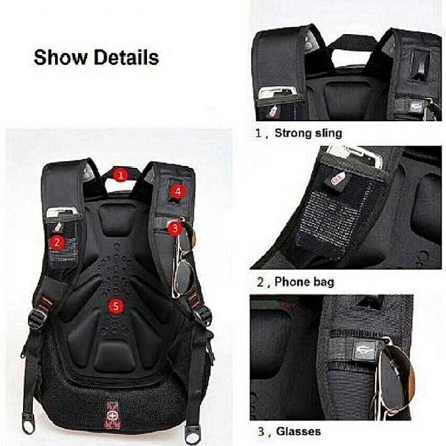 Swissgear Travel Gear Bungee Backpack - Black