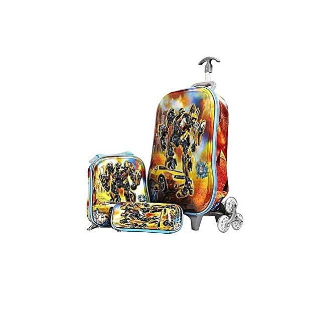 Transformer Hardshell Trolley 3 Wheels School Bag for Kids
