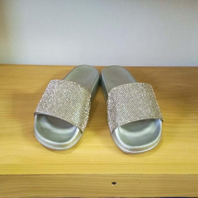 Shining Slide Sandals for Ladies
