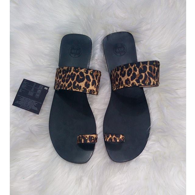 Animal Print Flat Sandal