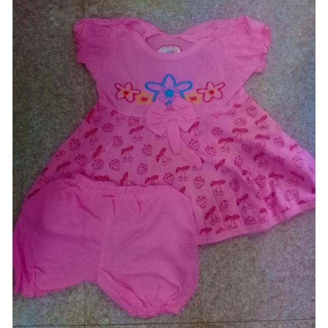 Strawberry Girls Dress and Pant