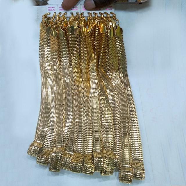 Heavy gold  chain plain - 12 pieces (Dozen)