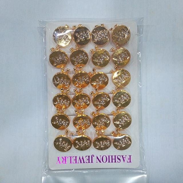 Small Gold Unique Earrings - Dozen