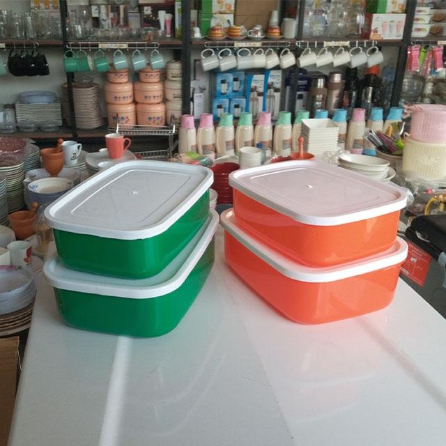 DeMo - plastic rectangle bowl set, 2 bowl